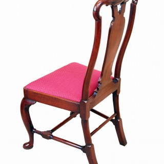 Antique Early 18th Century Pair Of Walnut Side Chairs