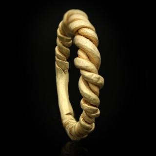 Viking twisted ring, circa 9th-11th century AD.
