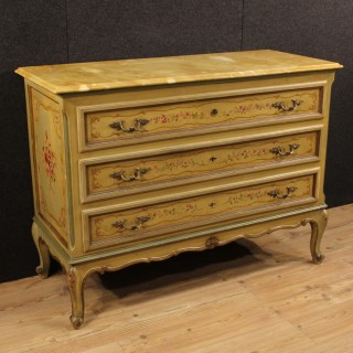 20th Century Italian Lacquered And Painted Dresser