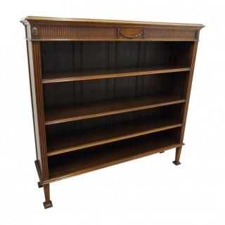 Waring and Gillows Mahogany Open Bookcase