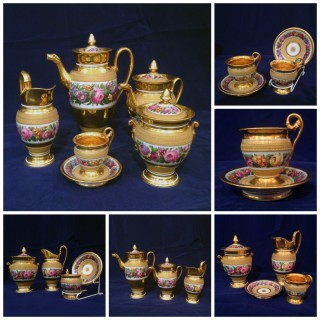 A Very Fine Empire Paris Porcelain Coffee Service