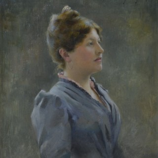 Harry Floyd (1871-c.1917) - Girl in a Grey Dress