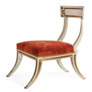 Regency period 'Klismos' side chair