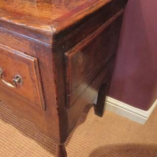 SUPERB MID GEORGIAN OAK & MAHOGANY DRESSER
