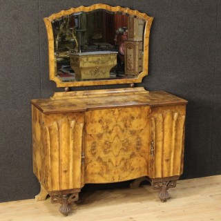 20th Century Dresser With Mirror In Art Déco Style