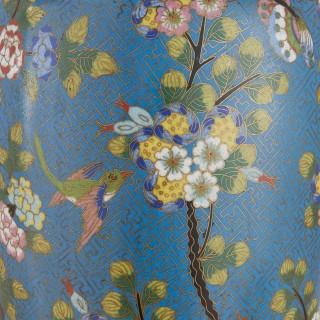 Pair of Japonisme ormolu mounted cloisonné enamel vases