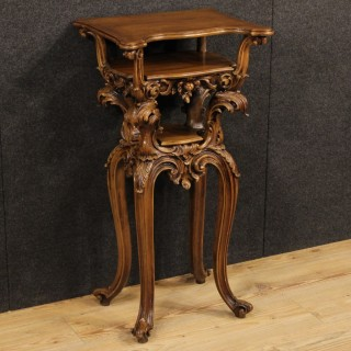 20th Century French Side Table In Carved Wood