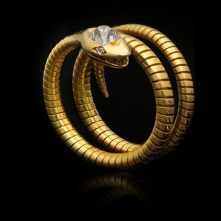 Diamond snake ring, circa 1880.