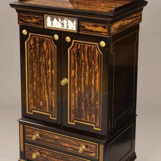 Ebony Music Cabinet in the Aesthetic Manner by Lamb of Manchester