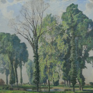 William Thomas Wood, RWS (1877-1958) - A Stand of Trees