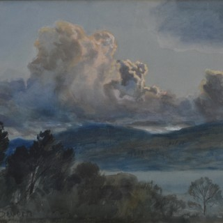 Arthur Joseph Palliser Severn (1842-1931) - Fine Height of Cloud