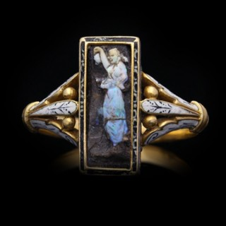 Carved opal ring attributed to Wilhelm Schmidt for Giuliano.