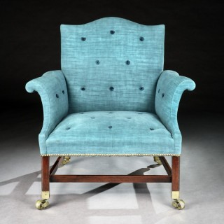 George III Chippendale Period Mahogany Armchair