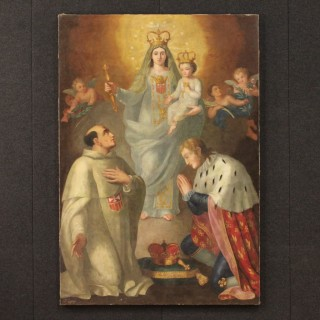 19th Century Italian Religious Signed Painting