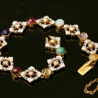 Carlo & Arthur Giuliano enamel gemset bracelet, circa 1900.