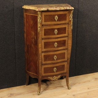 20th Century Inlaid Chest Of Drawers With Gilt Bronze