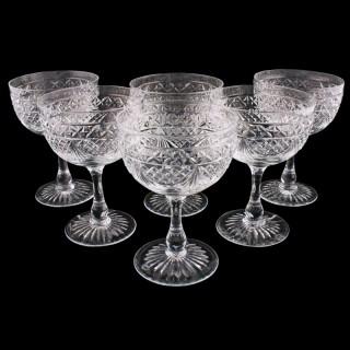 Set of Six Champagne Glasses