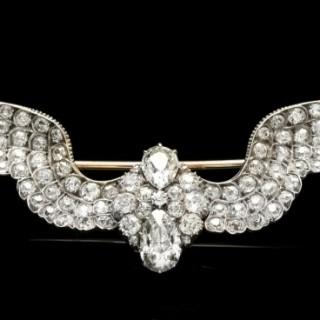 Carlo & Arthur Giuliano antique diamond wing brooch, circa 1900