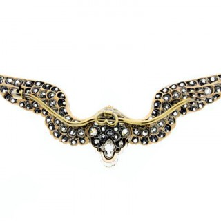 Carlo & Arthur Giuliano antique diamond wing brooch, circa 1900