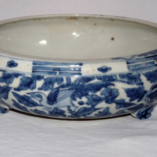 Transitional Blue and White  Chinese Porcelain Censer