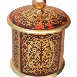 Antique Regency Boulle Tobacco Jar