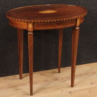 20th Century English Inlaid Side Table