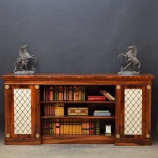 A Superb Regency Rosewood Bookcase / Sideboard