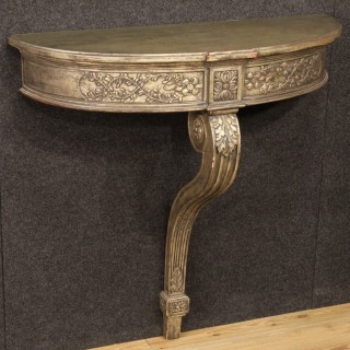 20th Century French Silvered Console Table