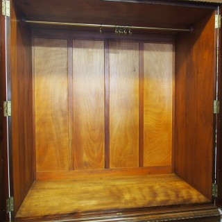 George III Style Mahogany 2 Door Linen Press