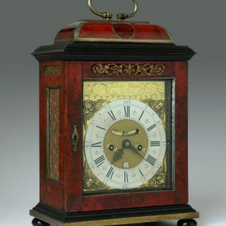 Anthoine GUIGUER, London, tortoiseshell and pewter inlaid striking bracket clock, circa 1700