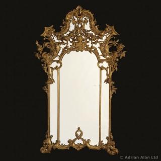 Ornate Rococo Style Giltwood Mirror