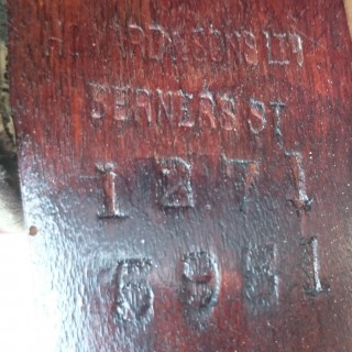 Antique Leather Wing Chair Made By Howard And Sons