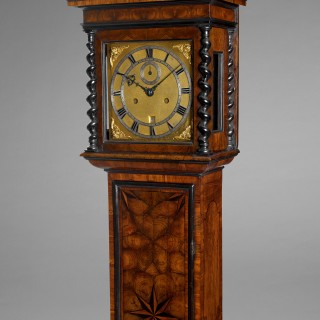 A rare Charles II parquetry longcase clock of small proportions, by JACOBUS MARKWICK, London c1675