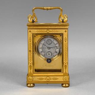 A rare and exceptionally fine French carriage timepiece, by FATTON ÉLÈVE De BREGUET No. 82 Paris c1825