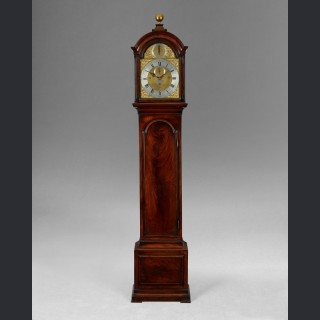 An important three train longcase clock, by JOHN HOLMES, London c1770