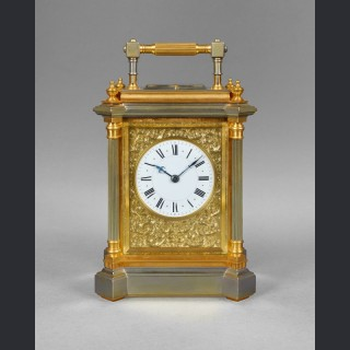 A rare giant size French carriage clock, by HENRI JACOT No. 4385, Paris c1890