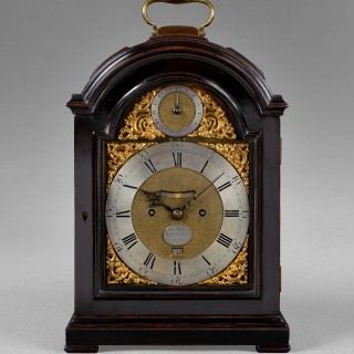 A fine and rare ebonised fruitwood spring bracket clock, by THOMAS MUDGE & WILLIAM DUTTON, London c1760