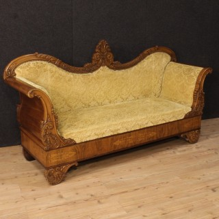 19th Century Antique French Inlaid Sofa