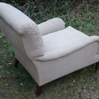 Unusually Large Easy Armchair By Howard And Sons Of London