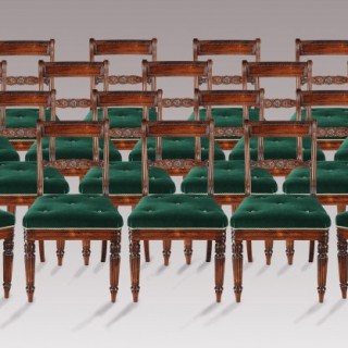 Set of Twenty Regency Period Chairs Attributed to Gillows