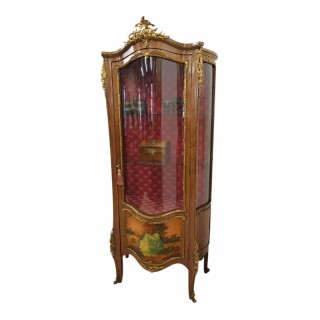 French Kingwood and Vernis Martin Vitrine Cabinet