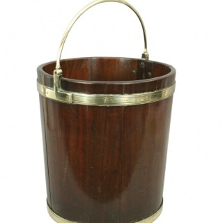 Antique Mahogany Peat, Turf Bucket.