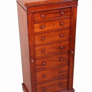 Antique Regency Mahogany Wellington Chest