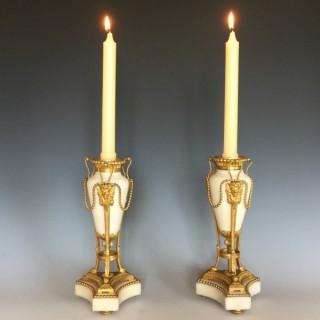 Napoleon III Gilt Bronze & Marble Cassolettes