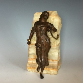 Bronze Figure 'Andromeda Chained to the Rocks'