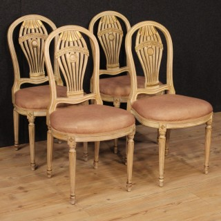20th Century Group Of Four French Chairs In Louis XVI Style