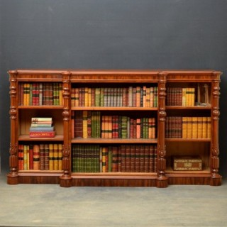 Superb Quality Victorian Mahogany Open Bookcase