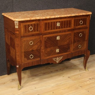 20th Century French Inlaid Dresser In Transition Style