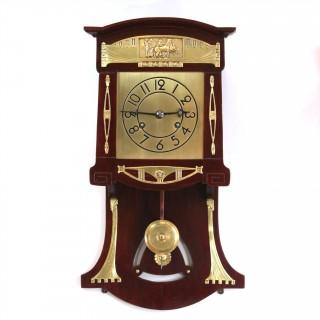 Jugendstil small Striking Wall clock, Black Forest