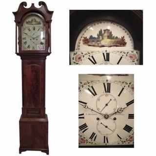 George IV Scottish Mahogany Cased Grandfather Clock by J. Melrose, Edinburgh